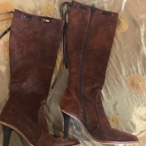 Coach side zip to the knee boots size 8B